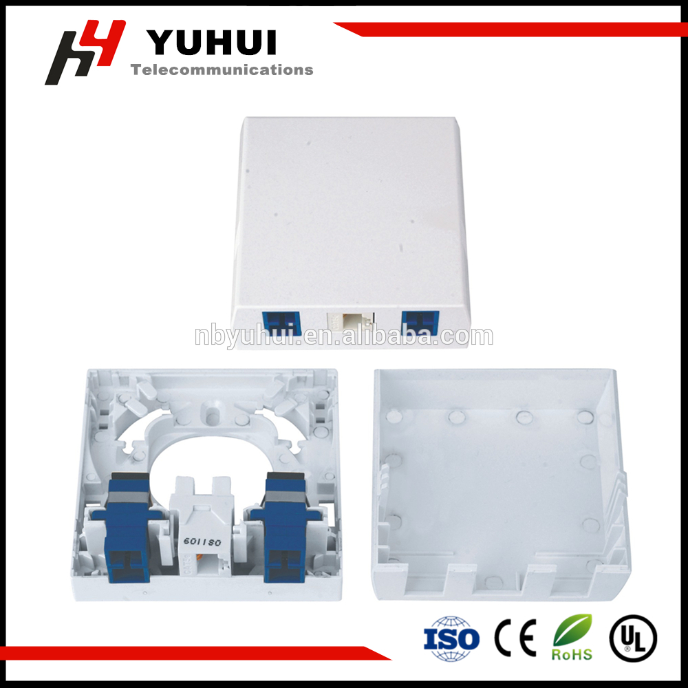 2 Port Fiber Optic Surface Box