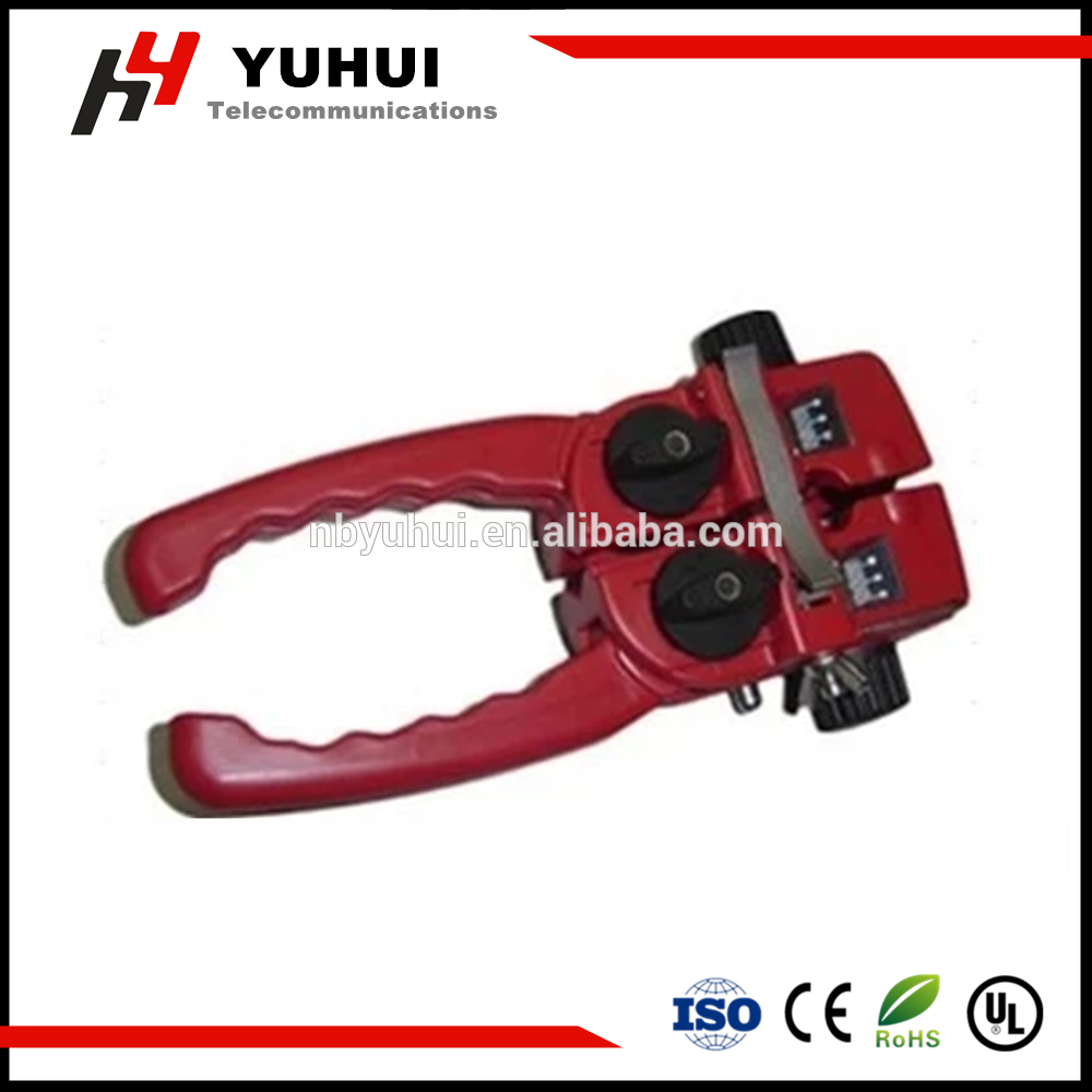 Across and Lengthwise Fiber Cable Stripper