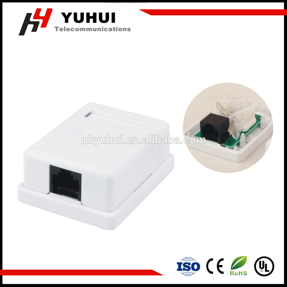 Single Port RJ45 Surface Mount Box