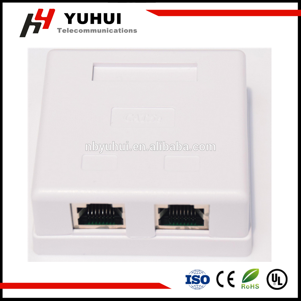 2 Port Shielded RJ45 Box